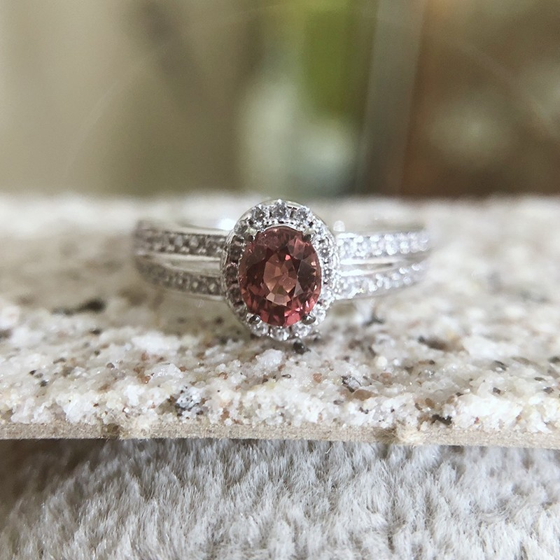 紅寶碧璽戒指