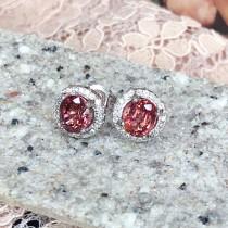 紅寶碧璽耳環