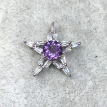 星星紫水晶墜
