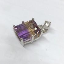 公主方紫黃晶墜