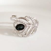 羽毛碧璽戒指