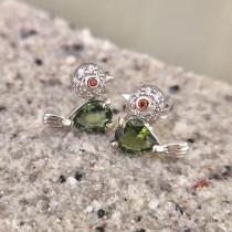 小雀幸綠碧耳環
