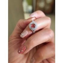 香檳紫紅碧璽戒指