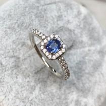 圓方經典藍寶戒指